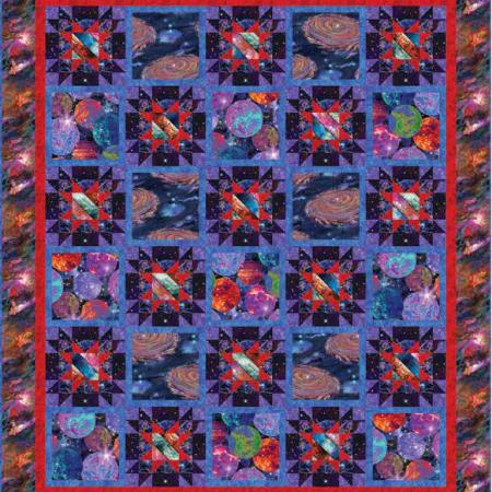 Gratis quiltpatroon Galaxy Blast. Voor een prachtige Galactische quilt.