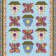 Gratis quiltpatroon Garden Glory. Voor het maken van een zonnige quilt.