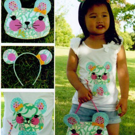 Melly & Me naaipatroon M085. Little Miss Mouse. Tasje. Vorm: Muis