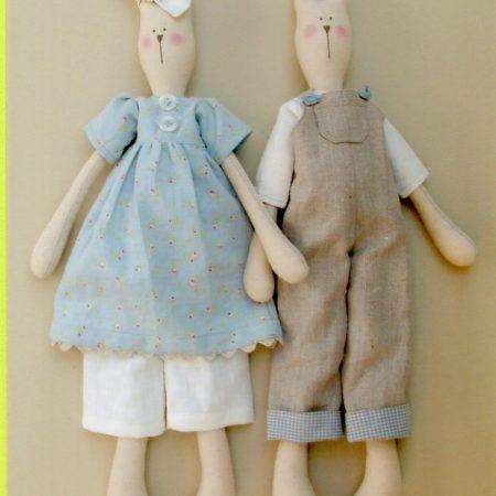 Melly & Me naaipatroon M007. Pocket en Floss. Een mooie haas