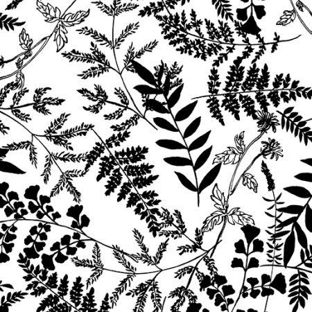 Fat quarter Kanvas 7796 Leafy Garden. Ideaal als basisstof te gebruiken