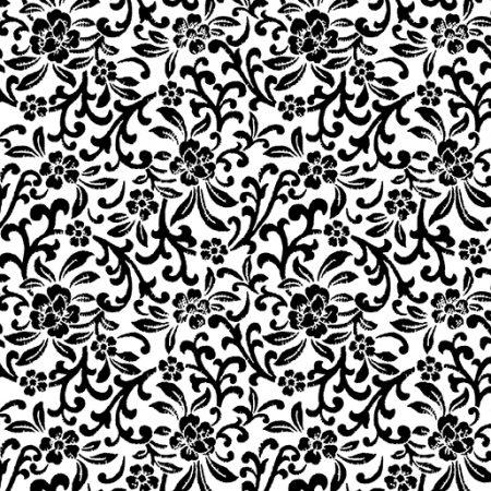 Fat quarter Kanvas 7808 Scroll Floral. Ideaal als basisstof te gebruiken
