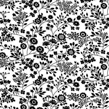 Fat quarter Kanvas 7809 Floral Garden. Ideaal als basisstof te gebruiken