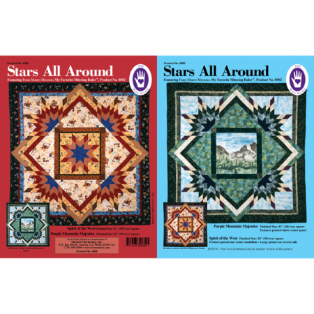 Marti Michell Quiltpatroon Stars All Around 8008. Merk: Marti Michell