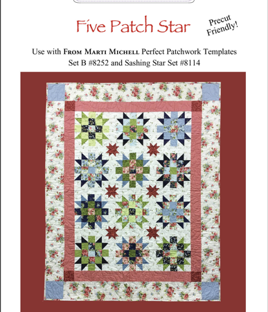 Marti Michell Quiltpatroon Five Patch Star 8010. Een prachtig quiltpatroon