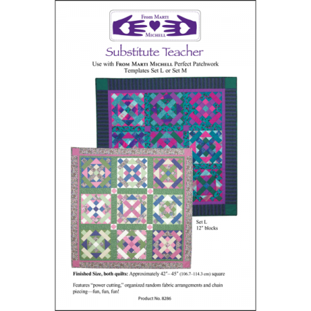 Marti Michell Quiltpatroon Substitute Teacher 8286