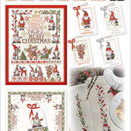 Lindner Borduurpatroon 113 Weihnachtswichtel. Kerstkabouters