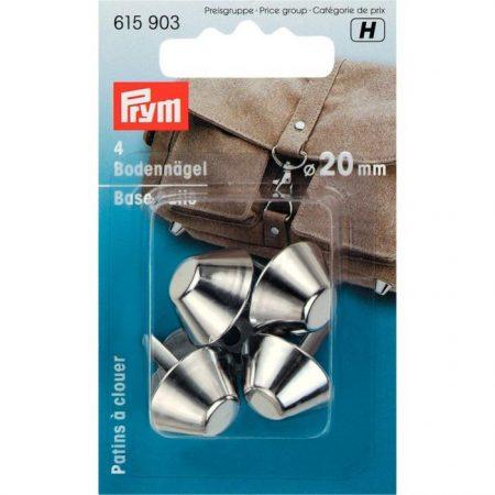 Prym 615903 Tasvoetjes 20 mm kleur: Zilver. Merk: Prym