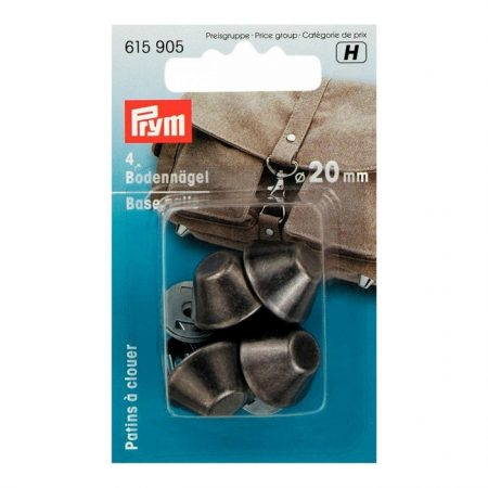 Prym 615905 Tasvoetjes 20 mm kleur: Antiek Zilver