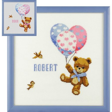 Pako Borduurpakket geboortetegel Aida Robert Beer
