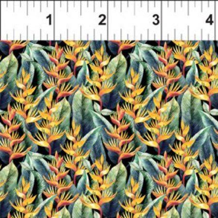 Quiltstof katoen Mini Birds of Paradise. Verkoop per 25 cm