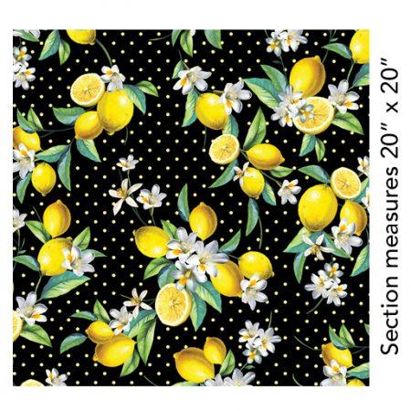 Quiltstof katoen Lemon Fresh Bouquet. Verkoop per 25 cm