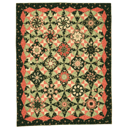 Marti Michell Quiltpatroon Ramblin' Rose with Guacamole 8054