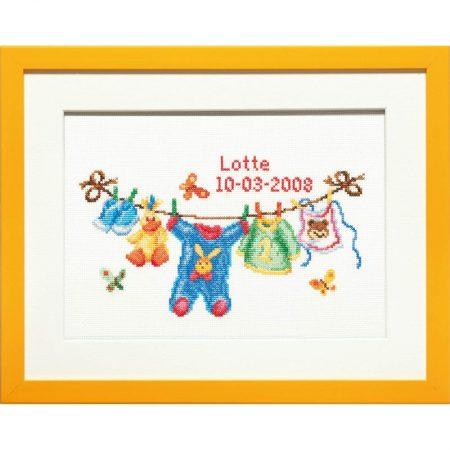 Pako Borduurpakket geboortetegel Aida Waslijn 225298