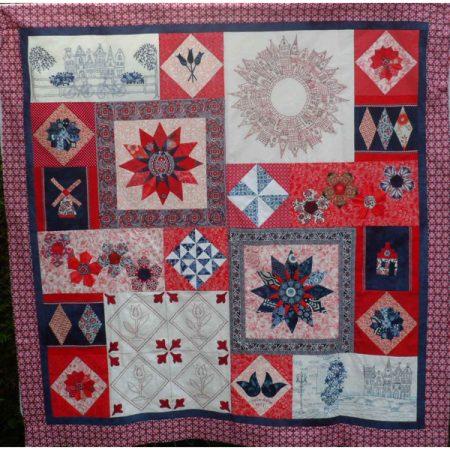 Maggie Bee Quiltpatroon. Hollandaise. Patroon voor een Hollandse quilt.