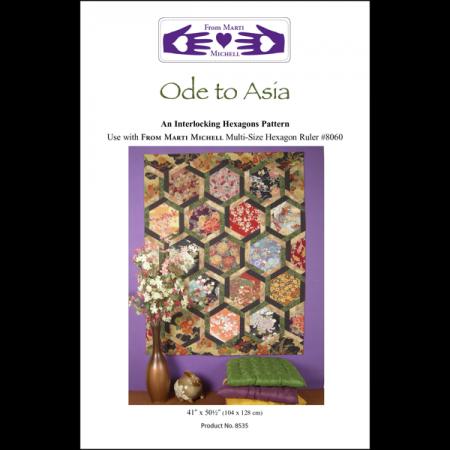 Marti Michell Quiltpatroon Ode to Asia. Prachtig patroon voor een quilt