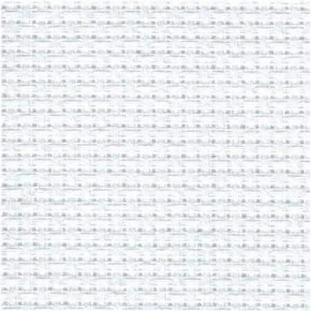 Aida wit voorverpakt 7,1 bl/cm kleur 0. 100% katoen
