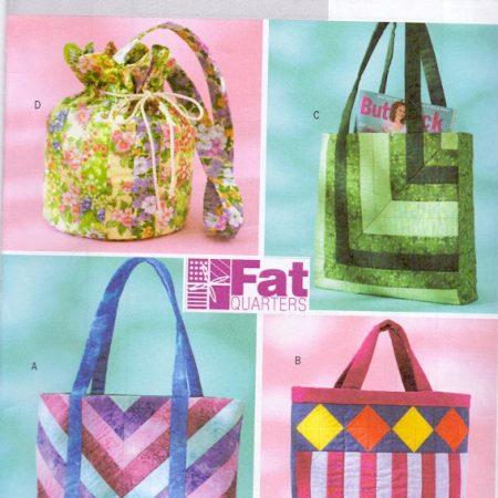 mooi patroon voor vier verschillende modellen van een royale tas.