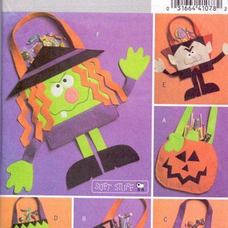 Butterick B4884 Halloween tas. Leuk patroon voor een snoeptas