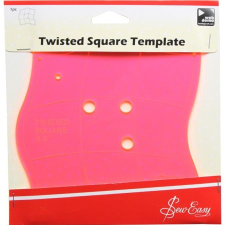 Sew Easy Twisted Square Template. Merk: Sew Easy