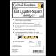 Marti Michell 8031 Nested Just Quarter-Square Triangles