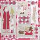 The Birdhouse Quiltpatroon Christmas Blessings. Ongeveer 82 x 82 cm