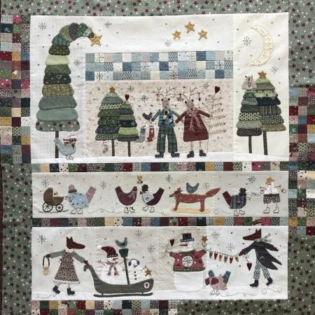 Lynette Anderson Designs Quiltpatroon Winter Playground