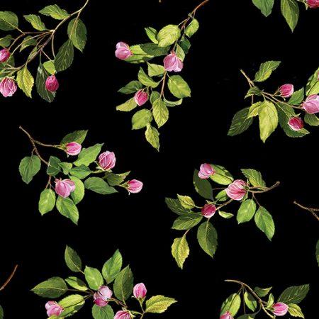 Quiltstof katoen Apple Blossom Buds. 8327-12. Verkoop per 25 cm