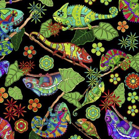Quiltstof katoen Kameleon. Verkoop per 25 cm. Mooie stof