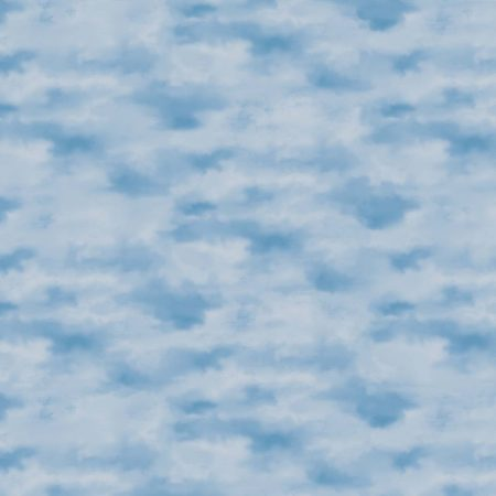 Quiltstof katoen Wolkenlucht. Verkoop per 25 cm. Mooie stof