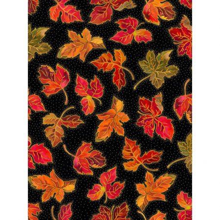 Quiltstof katoen Herfstbladeren. Verkoop per 25 centimeter