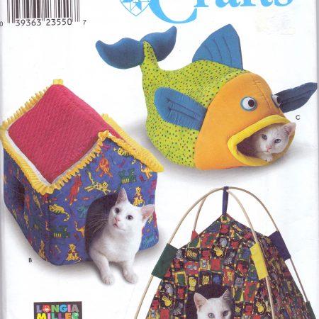 Simplicity Crafts 9004 Kattenhuisjes. Een mooi patroon