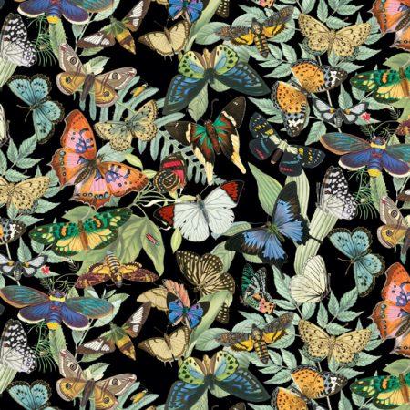 Quiltstof katoen Vlinders 18001. Verkoop per 25 cm
