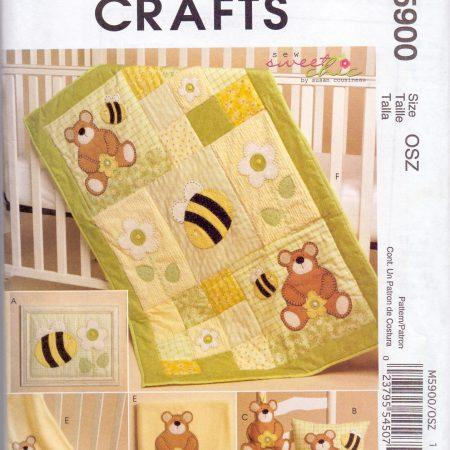 McCall's Crafts M5900 Berenquilt. Merk: McCall's. Patroon