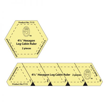 Marti Michell 7115 Hexagon Log Cabin Template Set