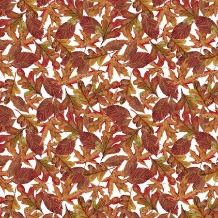 Quiltstof katoen Herfstbladeren. Verkoop per 25 cm