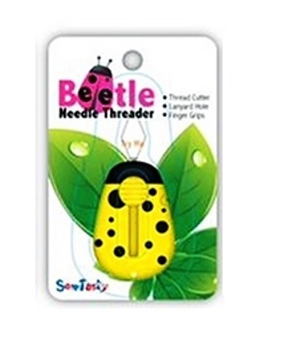Sew Tasty Beetle Draaddoorhaler geel met led lampje en mesje