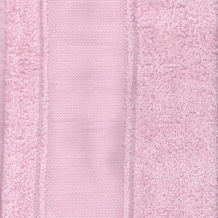 Gastendoekje roze met Aida rand. De rand heeft 45 kruisjes hoogte