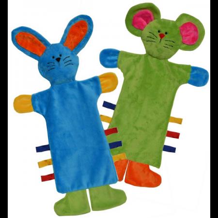 Kids Quilts Patroon Cuddle Buddies. Maken van 2 diverse labelpoppen