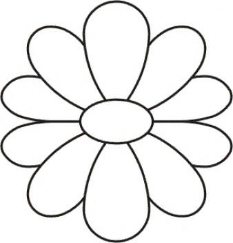 Quilting Creations Quilt Sjabloon Flower Block. Mooi quilt sjabloon