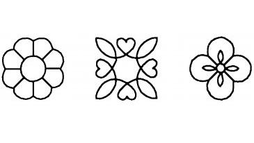 Quilting Creations Quilt Sjabloon Flower Blocks. Mooi quiltsjabloon