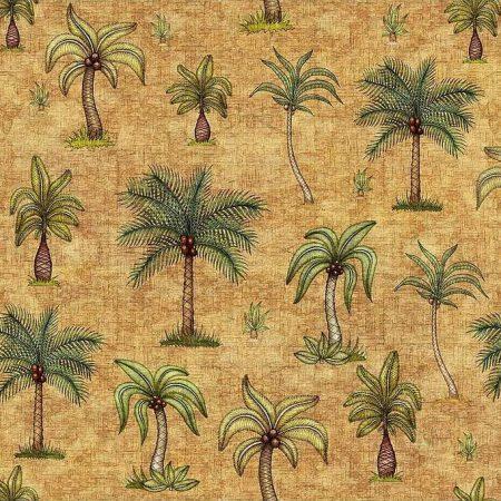 Quiltstof katoen Palmbomen in de woestijn. Verkoop per 25 cm