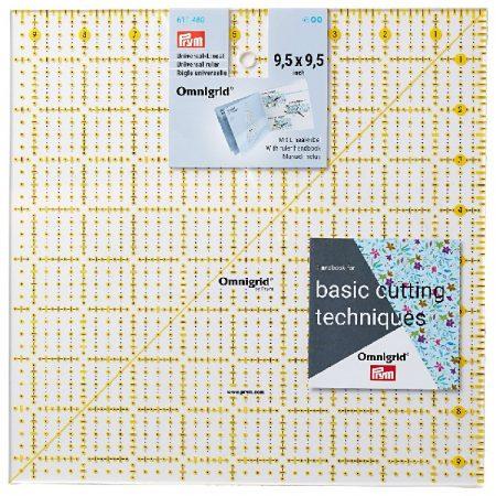 Prym 611480 Omnigrid liniaal 9,5 x 9,5 inch. Afmetingen: 9,5 x 9,5 inch