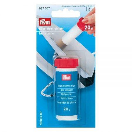 Prym 987057 Strijkijzer reiniger. Strijk met de stick over de warme strijkzool