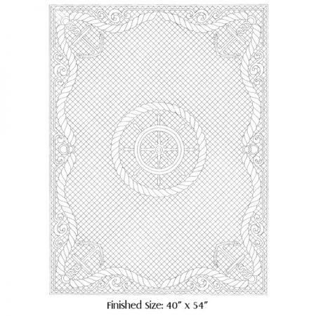 Benartex Wholecloth Quilt Top Wit 783 Voorbedrukt