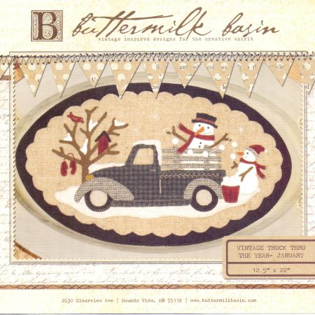 Buttermilk Basin Quiltpatroon Vintage trucks januari