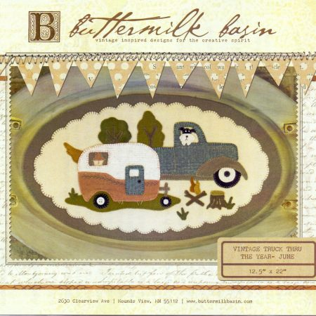 Buttermilk Basin Quiltpatroon Vintage trucks juni. Mooi quiltpatroon