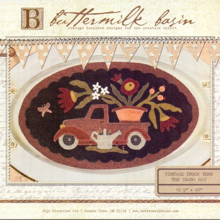 Buttermilk Basin Quiltpatroon Vintage trucks mei. Mooi quiltpatroon