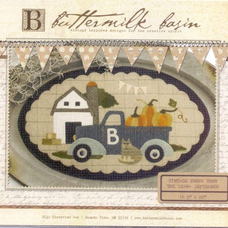 Buttermilk Basin Quiltpatroon Vintage trucks september