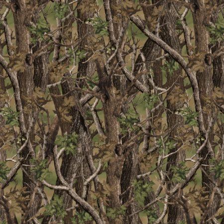 Quiltstof katoen Camo Norwegian Woods multi. Verkoop per 25 cm